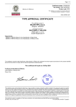 TYPE APPROVAL CERTIFICATE - BUTTERFLY VALVES